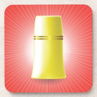 Dessous-de-verre Tube jaune