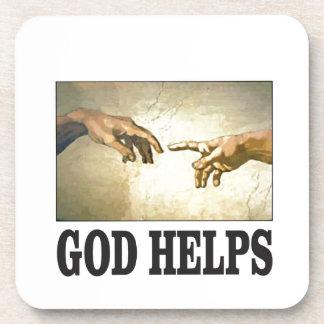 Dessous-de-verre un dieu aide l'homme