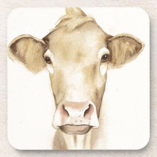 Dessous-de-verre Vache aux animaux | de grange d'aquarelle