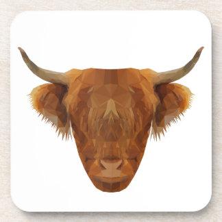 Dessous-de-verre Vache des montagnes écossaise à animal de l'Ecosse