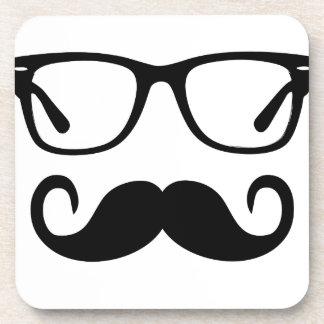 Dessous-de-verre Verres de hippie et moustache de guidon