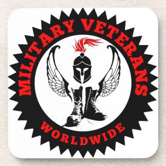 Dessous-de-verre Vétérans militaires dans le monde entier