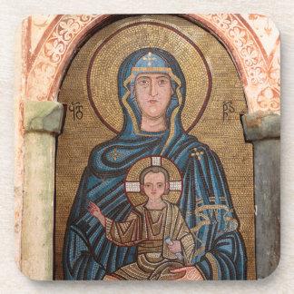 Dessous-de-verre Vierge Marie et mosaïque de Jésus
