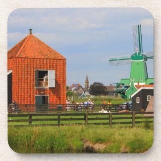 Dessous-de-verre Village néerlandais de moulin à vent, Hollande 4