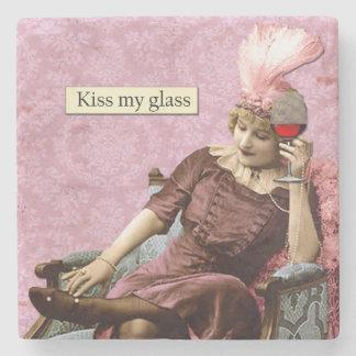 Dessous de verre vintages d'humour dessous-de-verre en pierre