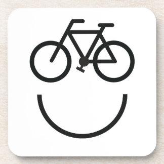 Dessous-de-verre Visage de vélo, smiley de bicyclette