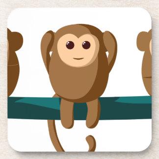 Dessous-de-verre Voyez pour entendre pour parler des singes
