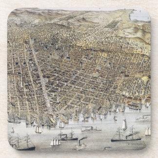 Dessous-de-verre Vue de San Francisco, 1878