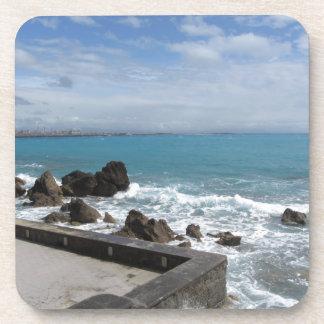 Dessous-de-verre Vue panoramique de côte de Castiglioncello en