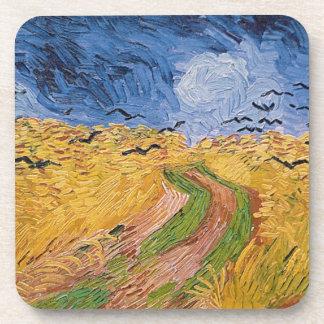 Dessous-de-verre Wheatfield de Vincent van Gogh   avec des