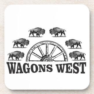 Dessous-de-verre yeehah occidental de chariots