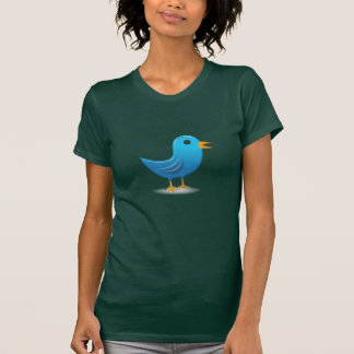 Dessus bleu de T-shirt d'oiseau
