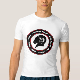 Dessus de compression de RAM/logo de garde, noir T-shirt