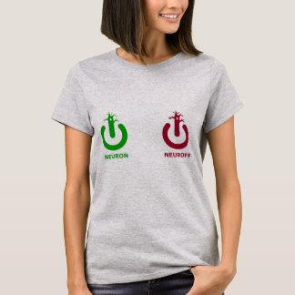 Dessus de dames de Neuroff de neurone T-shirt
