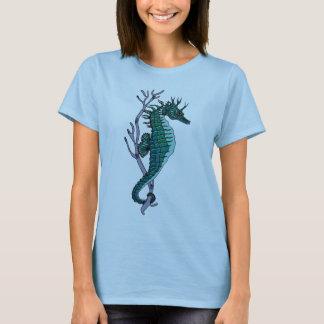 Dessus de filles d'hippocampe de Chemise-Dames de T-shirt