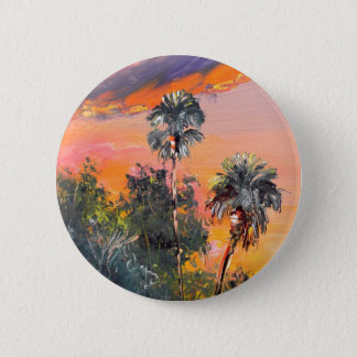 Dessus de palmier - ciel du feu badge
