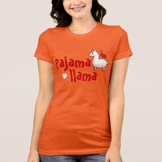 Dessus de pyjama de lama de pyjama t-shirt