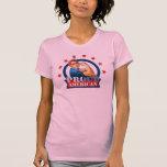 Dessus de réservoir américain fier de dames de t-shirts