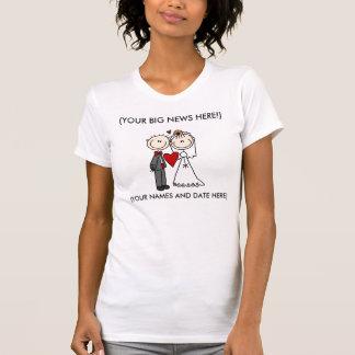 Dessus de réservoir customisé de jeunes mariés, ch t-shirt