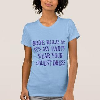 Dessus de réservoir de la règle #1 de jeune mariée t-shirts