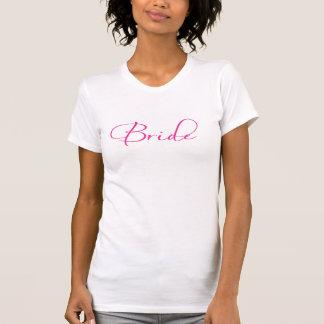 Dessus de réservoir rose de jeune mariée t-shirts