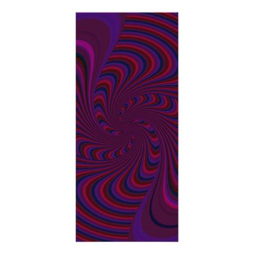 Dessus de rotation dans l'abrégé sur couleurs fonc double carte