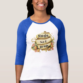 Dessus de style de tatouage de drogues de Nugs pas T-shirt