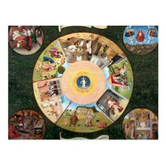 Dessus de table des sept péchés mortels carte postale
