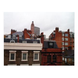 Dessus de toit de carte postale de Londres