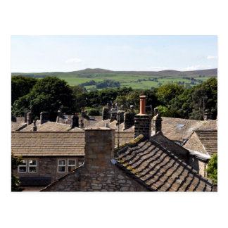 Dessus de toit de North Yorkshire Carte Postale