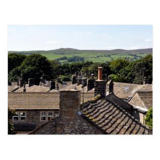 Dessus de toit de North Yorkshire Cartes Postales