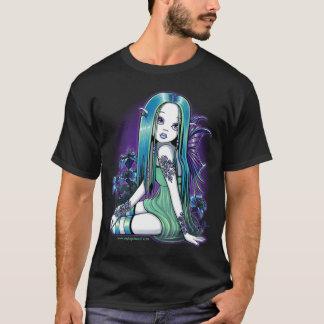 Dessus féerique d'art de Lilly de lune gothique de T-shirt