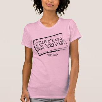 Dessus pur réversible courageux t-shirt
