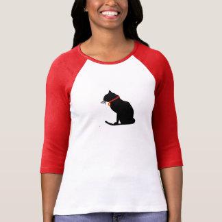 Dessus raglan de dames de chat frais t-shirt