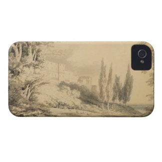 d'Este de villa, c.1796 (bleu et lavage gris Coque iPhone 4 Case-Mate