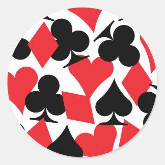 Destin Las Vegas épousant autour de l'autocollant Sticker Rond