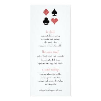 Destin Las Vegas épousant le scintillement rose Carton D'invitation 10,16 Cm X 23,49 Cm