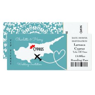 Destination Chypre de mariage de carte