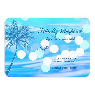 Destination de plage de palmier épousant des carton d'invitation 8,89 cm x 12,70 cm