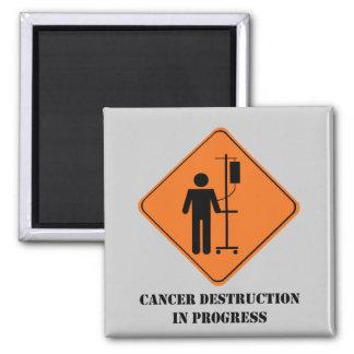 destruction de cancer dans progrès-grand magnet carré