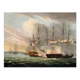 Destruction de la flotte française dans des routes cartes postales