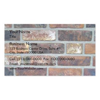 Détail coloré d arrière - plan de mur de briques cartes de visite personnelles