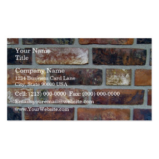 Détail coloré d'arrière - plan de mur de briques cartes de visite professionnelles