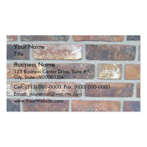 Détail coloré d'arrière - plan de mur de briques cartes de visite personnelles