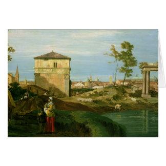 Détail de 'Capriccio avec des motifs de Padua Carte De Vœux