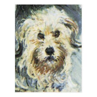Détail de chien de la peinture de Claude Monet Cartes Postales