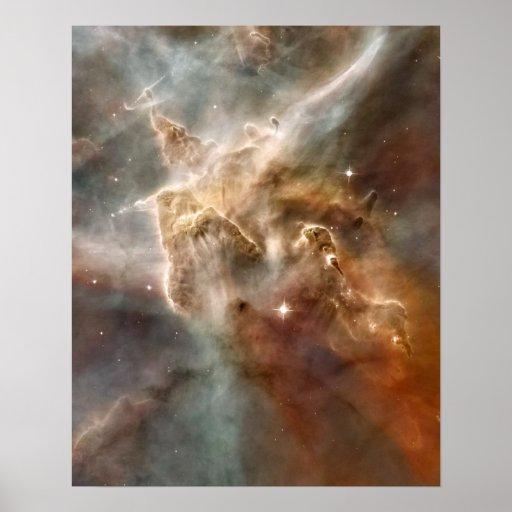 Détail de Étoile-Formation de région de nébuleuse  Posters