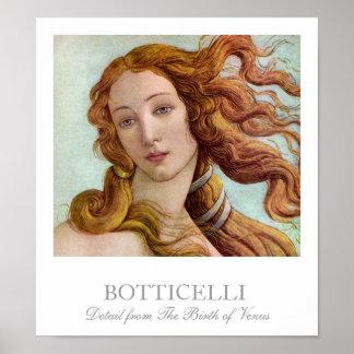 Détail de la naissance de Vénus par Botticelli Poster