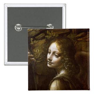 Détail de l'ange, de la Vierge du Badge Carré 5 Cm