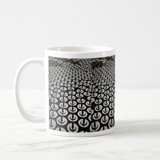 Détail de ligne d'emballage chimique mugs